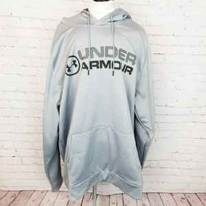 Under Armour|Loose fit Gray Logo Pullover Hoodie
